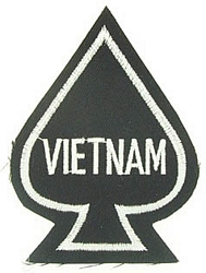 Vietnam Ace of Spades Patches